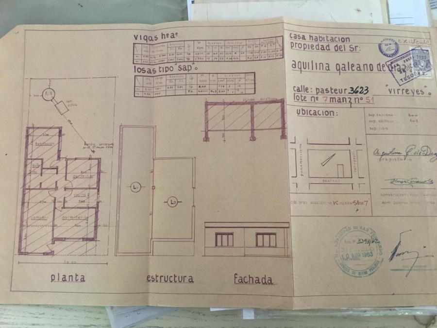 Pasteur 3623, 3 Habitaciones Habitaciones, ,1 BañoBaño,Casa,Venta,Pasteur 3623,1179